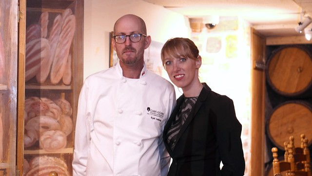 The chef (Eyal Liebman) & the sommelier (Rebecca Meir-Liebman) of Chef & Somm
