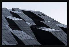 Undulating (Ilan Shacham) Tags: vienna wien windows abstract building tower architecture modern facade dark austria graphic geometry menacing fineart shapes fineartphotography perrault dominiqueperrault dctower