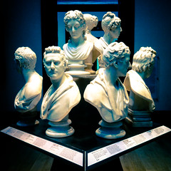 A group of busts