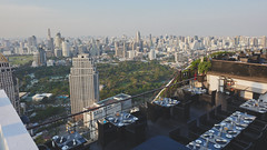 Bangkok and Lumphini park from above (williwieberg) Tags: d810 thailand 24mmf14g lumphinipark bangkok banyantreehotel
