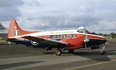 XM223. RAE De Havilland Devon C.2 (isdc1316) Tags: june aviation military airshow scanned rae 1989 prestwick pik raspberryripple royalaircraftestablishment egpk xm223 dehavillanddevonc2 ayronautica