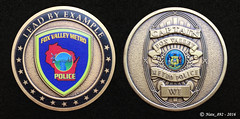 Fox Valley Metro Police Challenge Coin (Nate_892) Tags: county green wisconsin bay coin conservation police grand valley badge fox milwaukee waukesha sheriff patch tribe sheboygan gresham wi chute challenge swat oneida outagamie