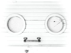 A 17 ans, en pleine priode gothico-piercing, Cassandre se fit poser un anneau dans le nez, un clou sur la lvre et... le troisime piercing sur une autre lvre non visible sur cette photo ! (Isabelle Gallay) Tags: city urban blackandwhite monochrome architecture blackwhite sony bnw vill urbain blancetnoir aquitaine gironde saucats pareidolie