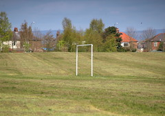 Lone goal post (Tony Worrall Foto) Tags: park county uk england green grass outdoors goal stream tour open place flat northwest unitedkingdom country north visit location lancashire area preston posts northern distance update attraction lancs welovethenorth
