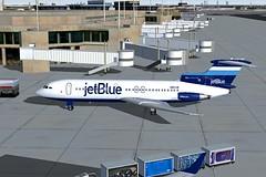 jetBlue Stripes Trident 4 KJFK-1 (jonf45 - 2 million views-Thank you) Tags: blue 2004 stripes 4 flight jet jetblue jb re bae simulator sim fs trident livery fs9 jbu repaint