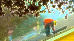 Roofer Roofing on the Roof (amarcord108) Tags: roof roofing roofer amarcord108 iphone6plus