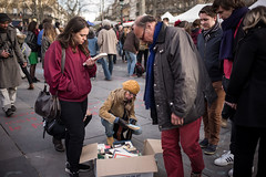 "8me nuit d'occupation de la Place de la Rpublique par le collectif ""Nuit debout"" - Paris, 7 avril 2016 (ND_Paris) Tags: jeunesse revolution greve manif manifestation occupation jeune occupy revolte nuitdebout"