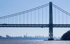 George en hiver (Ste.Baz) Tags: nyc bridge winter usa newyork newjersey hiver pont georgewashington gwb georgewashingtonbridge