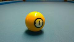 Odd_ball (jnspet) Tags: cameraphone pool yellow ball table one nokia indoors odd billiards pooltable poolball windowsphone lumia phoneography lumia1020