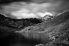 Llyn Llydaw MonoChrome (EVO GT) Tags: white mountain lake mountains reflection abandoned monochrome wales canon reflections landscape blackwhite reservoir snowdon snowdonia northwales llynllydaw minerstrack ndfilter neutraldensityfilter canon600d sigma1020mmf35exdchsm canon600deos