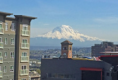 Mountain over Old City Hall (Liz Satter) Tags: mountrainier tacoma mtrainier oldcityhall downtowntacoma walktacoma downtownonthego walk253
