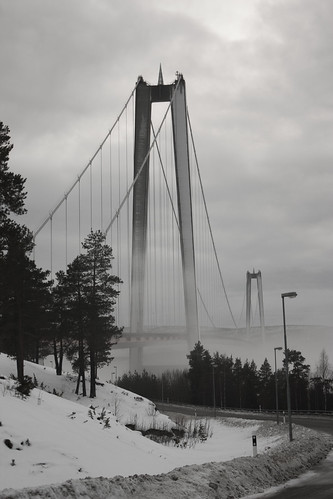 High Coast Bridge over Ångermanälven in Sweden