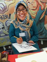 Smiling Asia (Kombizz) Tags: anime london illustration scarf japanese glasses asia artist cosplay nintendo cartoon manga hijab muslimah comicbook pokemon graphicnovel illustrator cosplayer otaku japaneseart fandom edo jal oekaki nhk theo2 ukiyoe libyan brainwashed subculture japanairlines jculture hibi 2015 animeconvention animeclub japaneseanimation indoctrinate animegirls japanesepopculture qversion kombizz animeboys visualnovel japanesesubcultures nipponhskykai hyperjapanfestival 1110315 july2015 libyanartist smilingasia