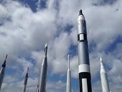 Rocket Garden (found_drama) Tags: vacation florida nasa rocket kennedyspacecenter ksc titusville outerspace rocketgarden