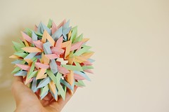 Six Interlocking Octagonal Stars+Six Interlocking Dodecagonal Stars (Byriah Loper) (Byriah Loper) Tags: paper origami polygon paperfolding wireframe planar polyhedron origamimodular heptagon crimp octagonal heptagonal octahedral byriahloper