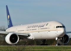 HZ-AK15 (AnDrEwMHoLdEn) Tags: manchester airport 777 manchesterairport saudia egcc 05l saudiairlines