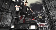 rebel (aarontj90) Tags: city beard rebel cool mesh jesus hipster police sl secondlife tmp inertia tmd nikotin poorjohn slfashion monso manbun belleposes boonlab