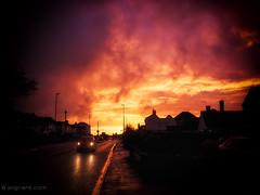 Post rain light (dash.null) Tags: england orange colour rain weather silhouette yellow lumix purple unitedkingdom snapshot panasonic gb damp keynsham g7 lumixg7