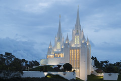 Temple in the Clouds (aaronrhawkins) Tags: building castle church architecture angel temple worship heaven sandiego spires floating lajolla mormon spiritual lds breathtaking inspiring moroni aaronhawkins