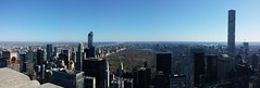 Top of the Rock, overlooking Central Park (HIGDON FAMILY) Tags: new york city nyc newyork rock center 30rock rockafeller rockafellercenter 2016