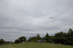 A SMALL AIRPORT, SOME PARKS AND CLOUDS - XXXII (Jussi Salmiakkinen (JUNJI SUDA)) Tags: park wood autumn sky cloud japan airplane landscape tokyo airport cityscape aircraft     chofu