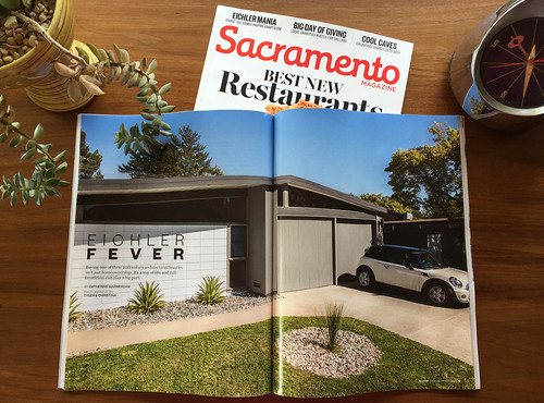 Sacramento Magazine May 2016 features Sacramento's Eichler Homes Neighborhood