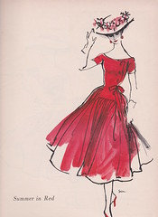 Mollie Parnis for Wamsutta 1956 (moogirl2) Tags: retro vogue 50s 1956 vintageads vintagefashions wamsutta vintagevogue 50sfashions vintagefashionillustration mollieparnis