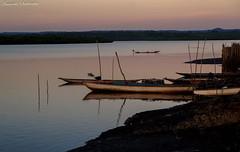Santiago do Iguape - Cachoeira- Bahia/Brasil (AmandaSaldanha) Tags: sunset sky nature brasil river landscape photography boat flickr horizon natureza paisagem cu prdosol bahia rioparaguau recncavobaiano santiagodoiguape