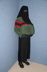 Fat Belly (Buses,Trains and Fetish) Tags: girl warm fat coat hijab belly sweat niqab anorak slave burka chador