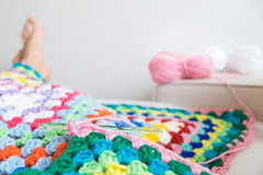 Decke ( Angeles Antolin ) Tags: germany angeles nuremberg crochet colores decke manta antolin hoyos ganchillo