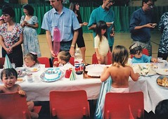 Birthday Party at the Sports Centre Bury St Edmunds 1991 (Bury Gardener) Tags: birthday uk family friends party england suffolk relatives oldies 1990s 1990 eastanglia burystedmunds