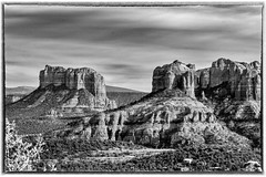 Cathedral Rock and Courthouse Butte - B&W (TAC.Photography) Tags: sedona cathedralrock courthousebutte