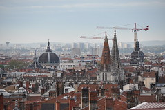 Eglise Saint Nizier et dme de l'htel Dieu (Richard de Lyon) Tags: lyon dme toits hteldieu saintnizier