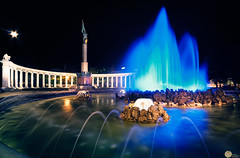 Hochstralbrunnen Fountain || Vienna (SagarMohanty) Tags: vienna monument reflections austria famous bluehour fountains popularfountains
