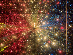 Infinity Corridor of Light (Graeme Pow) Tags: light colour stars edinburgh infinity space corridor sparkle galaxy sparkly cameraobscura