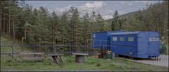 . (OverdeaR [donkey's talking monkey's nodding]) Tags: trees house mountains pine track toilet 235 divčibare maljen kakoljudizaseravajuprirodu