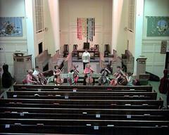 DSC_0031c Ealing Symphony Orchestra cellos. Ealing Green Church. 12th July 2003 (Paul Ealing 2011) Tags: 2003 green london church july cello orchestra 12 12th symphony ealing 07 eso