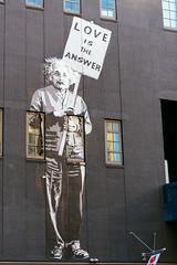 Love is the Answer (DEARTH !) Tags: street nyc windows streetart newyork wall us mural unitedstates einstein highline dearth