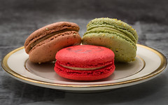 Macaron Trio (Tom Noe) Tags: food cleveland case desserts patisserie bakery pastries cwru croquembouche macarons foodphotography universitycircle casewesternreserveuniversity tomnoe coquettepatisserie macrodesserts brittmarieculey tomnoephotography shaneculey