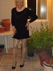 Im kurzen schwarzen (SheerBelette) Tags: tranny lbd nylon heels pantyhose strumpfhose blonde legs lips sheer highheels tgurl tgirl crossdresser minikleid minidress shemale nutte whore trannywhore halterlose boobs titten shiny rock skirt miniskirt leatherskirt enfemme feminisation fem transformation mtf feminization transvestite lady transgender single sissy feminin