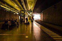 Central station (Maria Eklind) Tags: city light sky clouds train sunrise se morninglight europe traffic sweden sverige malm centralstation cityview skneln