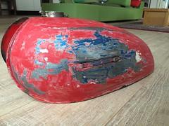 (digyourownhole) Tags: vintage honda motorcycle restoration caferacer cb550 bratt buildnotbought