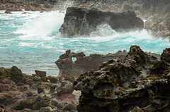 The heart-shaped rock (seanexmachina) Tags: hawaii maui nakaleleblowhole
