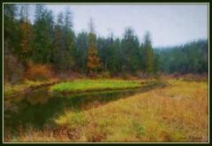 Lake Coeur d'Alene inlet (edenseekr) Tags: idaho nativeamericans photopainting lakecoeurdalene digitallypainted triballands