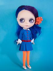 Violet Beauregarde (Helena / Funny Bunny) Tags: doll blythe custom violetbeauregarde rbl funnybunny solidbackground kaleidoscopekustoms