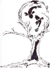Illustrazione _ Tecnica china_ Elisa Petrini (.Liz.OvEr.ThE.rAiNbOw.) Tags: fish liz tree art illustration ink painting artwork disegno tintachina illustrazione chinanera elisapetrini umbrianoise elisapetriniartist