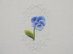 pansy (scosborne) Tags: hand embroidery trish pansy burr needlepainting