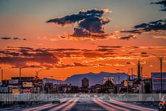 Alamogordo (KarinaSchuh) Tags: sunset mountains newmexico cars nature night watertower basin sunrays alamogordo 10thstreet oterocounty