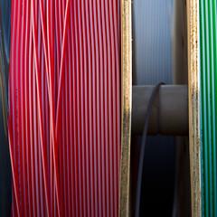 Green, Blue, Red (zeh.hah.es.) Tags: blue red black green rot schweiz switzerland construction zurich cable baustelle grn zrich blau constructionsite schwarz kabel