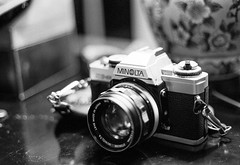 XG-M (SopheNic) Tags: blackandwhite bw film monochrome iso400 35mmfilm hp5 ilford 50mmf18 selfdeveloped minoltaxgm id1111 canonelan7e 55mmf17